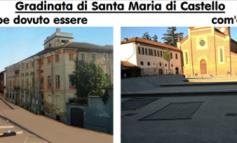 Piazza Santa Maria di Castello coi gradoni diritti e paralleli come volevamo noi di Alessandria Oggi