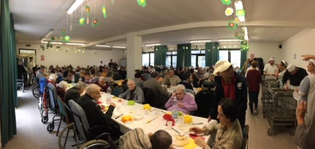 Pranzo pantagruelico per 150 commensali al Soggiorno Airone