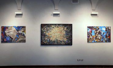 Le mostre che si sono svolte a Palazzo Cuttica e nelle Sale d Arte di  Alessandria hanno ospitato opere di Aqua Aura e Manuela Toselli 6b589a007e61