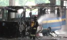 Rogo all'Amag Mobilità: distrutto uno scuolabus