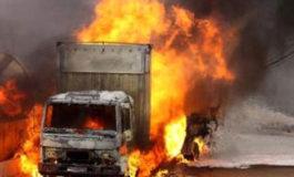 Cinque camion a fuoco: incendio doloso?