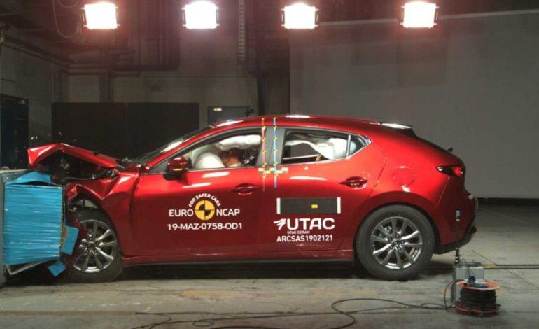 Crash test Euro NCAP: Mazda 3 al top dopo l'ultima sessione di test