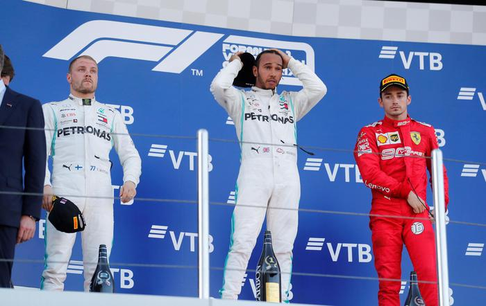 F1: Hamilton vince il Gp di Russia, Ferrari è terza con Leclerc