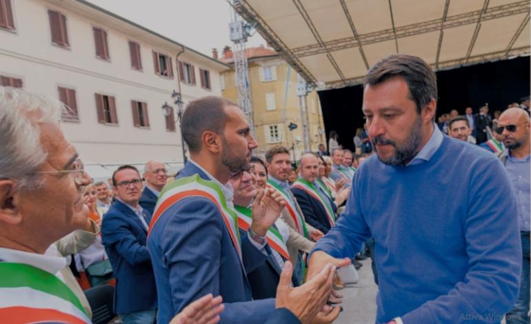 Bagno di folla di Salvini a Borgosesia e a Domodossola, alla faccia di certi sondaggi