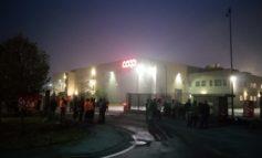 Sciopero dei lavoratori della logistica Coop a Tortona