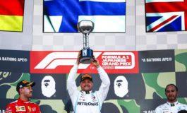 F1: La Mercedes Campione Mondiale costruttori con Bottas che vince il Gp del Giappone a Suzuka