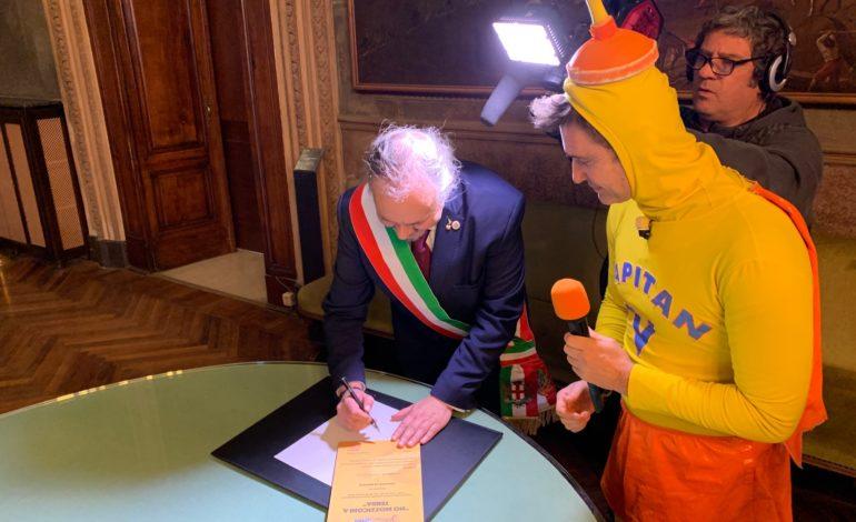 """Alessandria aderisce alla campagna """"No mozziconi a terra"""" di Striscia la Notizia"""