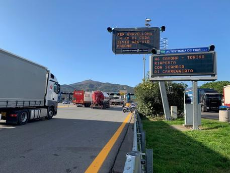 A6, riaperto al traffico il tratto Altare – Savona chiuso dalle 16 di domenica