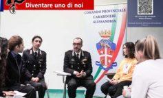 """Studenti del Liceo Scientifico """"Galilei"""" di Alessandria a lezione dai Carabinieri su come diventare Ufficiali dell'Arma"""