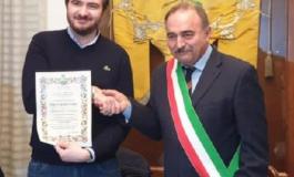 A Terzo d'Acqui hanno conferito la cittadinanza onoraria a Riccardo Molinari