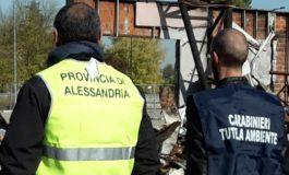 Carabinieri del NOE scoprono oltre mille tonnellate di detriti con amianto in azienda del tortonese situata vicino a dei campi coltivati