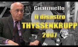 """Guariniello: a carico di TyssenKrupp """"processo svolta"""" per la Magistratura Italiana"""