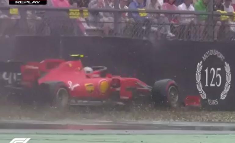 GP Germania F1 2019, Hockenheim: l'incidente di Leclerc con la Ferrari mentre era (quasi) primo