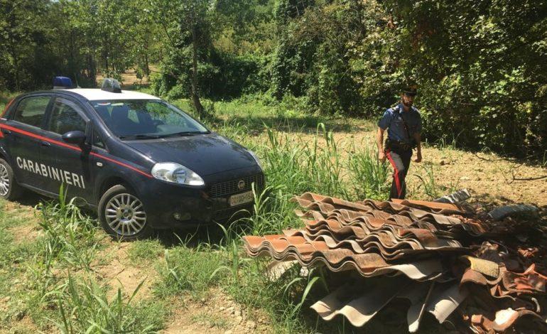 Gestione di rifiuti non autorizzata: denunciato imprenditore edile residente nel casalese