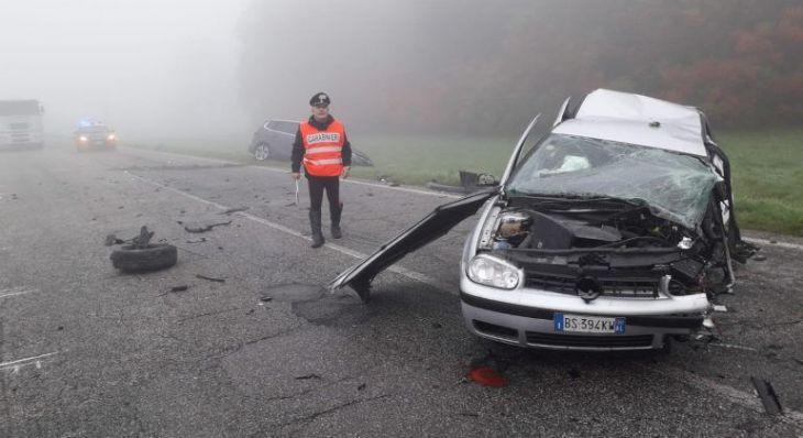 Tragico frontale fra due auto a Cereseto: una persona deceduta