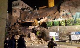 Maltempo: crollato il muraglione di corso XXV Aprile a Moncalvo