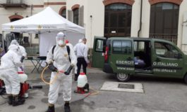 Task force di Alpini hanno disinfettato le Rsa di Asti e provincia