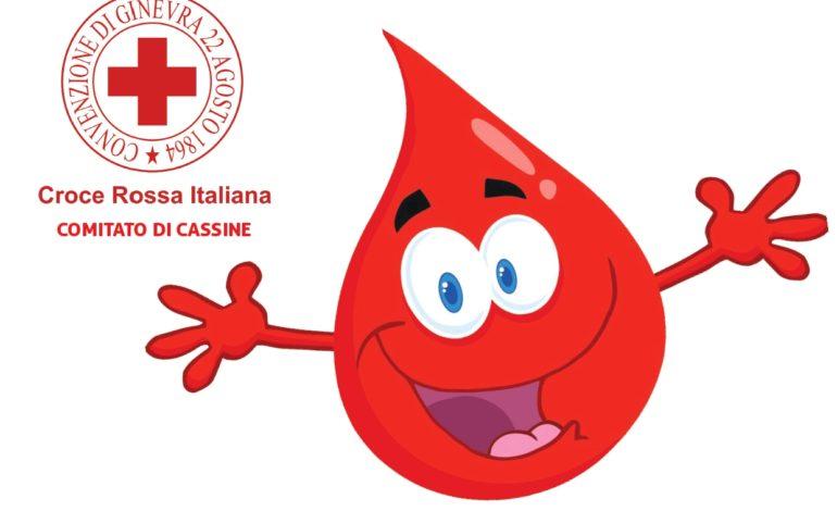 Da CRI Cassine: domenica ad Alessandria in Corso Acqui si terrà un Pubblico prelievo di sangue