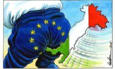 La stampa britannica riporta la notizia che il 65% degli italiani disprezza la Ue ma la stampa italiana la censura