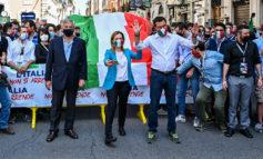 2 Giugno: manifestazione a Piazza del Popolo con bagno di folla per Salvini, Meloni e Tajani