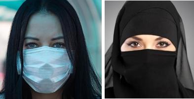 Perché il Burqa è vietato e la mascherina no?