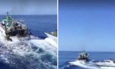 Motovedetta della Guardia di Finanza spara 400 colpi di mitragliatrice contro peschereccio tunisino in acque italiane (Video)