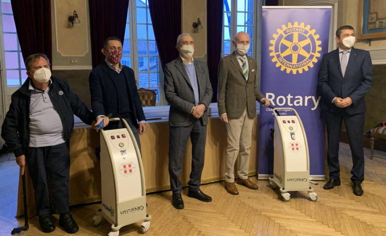 Da Rotary Club Novi Ligure: donati due sanificatori alle RSA Don Beniamino e La Serenella