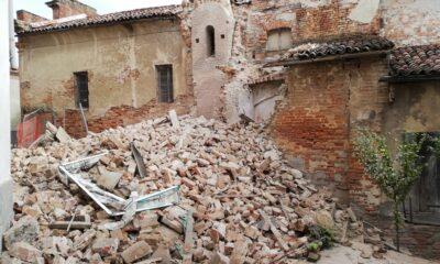 Per le piogge insistenti è crollato il campanile della chiesa di San Biagio a Lu Cuccaro