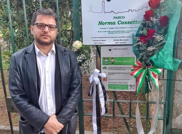 """Da """"Una rosa per Norma"""": la Città di Siena ha intitolato un parco pubblico a Norma Cossetto, martire delle foibe, medaglia d'oro al merito civile"""