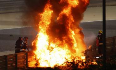 Formula 1, la Haas di Grosjean si spezza e s'incendia, illeso il pilota