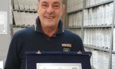 Dalla Questura di Alessandria: l'Agente Polstrada Mimmo va in pensione dopo 38 anni di onorato servizio