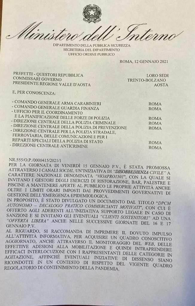 Achtung Siamo Allo Stato Di Polizia Lamorgese Organizza Raid Contro I Ristoratori Ribelli Ed E Rivolta Video Alessandria Oggi