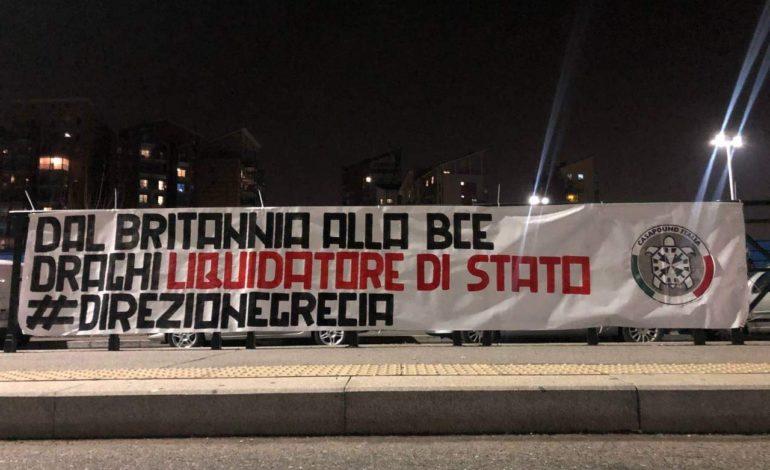 Da Casapound Torino: dal Britannia alla Bce, Draghi liquidatore di Stato
