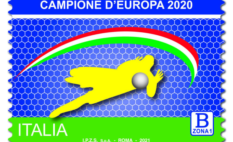 """Da Poste Italiane: emissione francobollo """"Campioni d'Europa di Calcio 2020"""""""